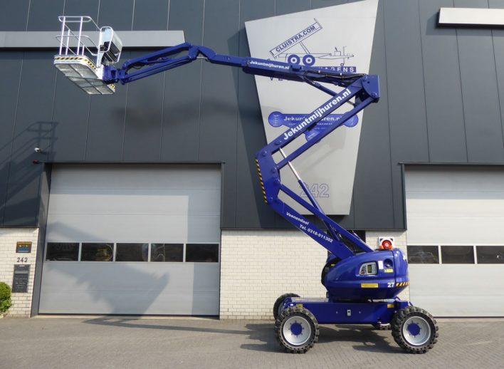 Knikschuifarm hoogwerker 4x4 met draagvermogen van 225 kilo
